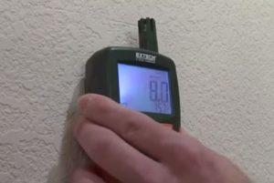 Inspecting Humidity Level Hero Mold Company Chapel Hill NC