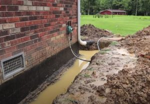 French Drain Installation Stops Water Flow Hero Mold Company Mold Inspections Testing Remediation